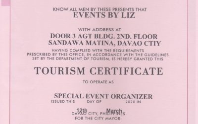 According to the Davao City Tourism Operations Office, Venues are now not allowe…
